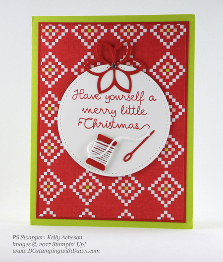 Stampin' Up! Christmas Quilt bundle cards shared by Dawn Olchefske #dostamping #stampinup #handmade #cardmaking #stamping #diy #rubberstamping #christmascards #christmasquilt (Kelly Acheson)