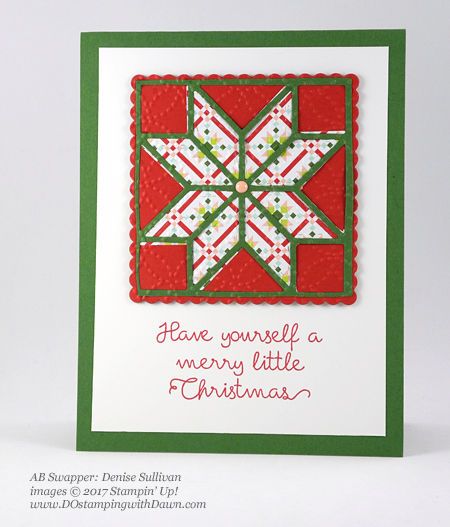Stampin' Up! Christmas Quilt bundle cards shared by Dawn Olchefske #dostamping  #stampinup #handmade #cardmaking #stamping #diy #rubberstamping #christmascards #christmasquilt (DeniseSullivan)