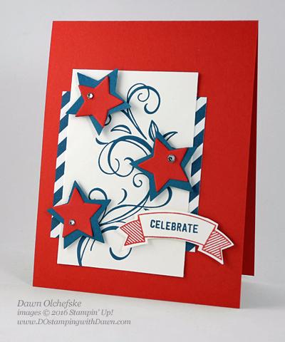 Stampin' Up! Retiring Star Framelits shared by Dawn Olchefske #dostamping #patriot #diy #cardmaking #clearancerack