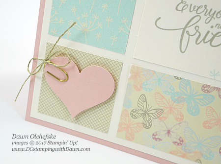 Sweetheart Punch card created by Dawn Olchefske for DOstamperSTARS Thursday Challenge #DSC220 #dostamping #sweetheartpunch #stampinup #clearancerack #cardmaking #diy
