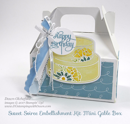 Stampin' Up! Sweet Soiree Suite (coming Jan 2018) projects by Dawn Olchefske #dostamping #stampinup #sweetsoiree #controlfreaks #birthday #diy #packaging