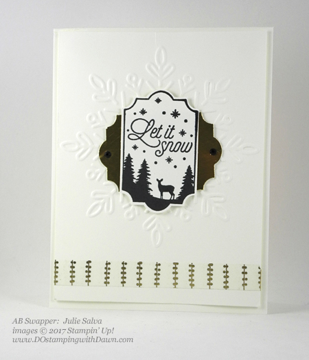 Stampin' Up! Merry Little Labels stamp set and Everyday Label Punch shared by Dawn Olchefske #dostamping #stampinup #handmade #cardmaking #stamping #diy #rubberstamping (Julie Salva)