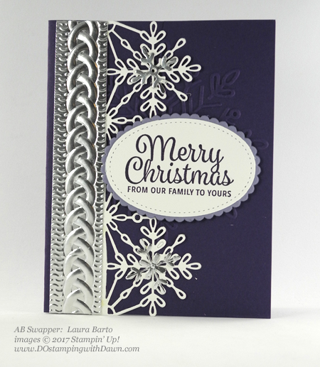 Stampin' Up! Snowflake Sentiments stamp set and Swirly Snowflakes Thinlit Dies shared by Dawn Olchefske #dostamping #stampinup #handmade #cardmaking #stamping #diy #rubberstamping (Laura Barto)