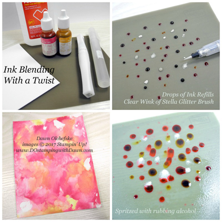 Ink Blending with a Twist Technique shared by Dawn Olchefske #dostamping #stampingtechnique #diy #cardmaking