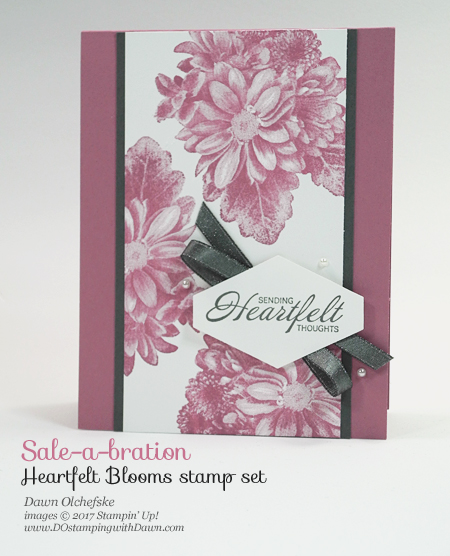 Sale-a-Bration Heartfelt Blooms card by Dawn Olchefske for DOstamperSTARS Thursday Challenge #DSC263 #dostamping #stampinup #handmade #cardmaking #stamping #diy #sympathy #saleabration #sab