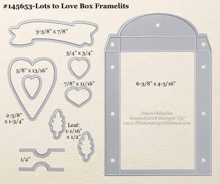 Stampin' Up! Lots to Love Box Framelit #dostamping #stampinup #LotstoLoveBox #bigshot #diy #handmade #cardmaking