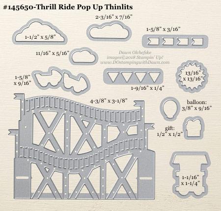 Stampin' Up! Thill Ride Pop Up Thinlits #dostamping #stampinup #ThrillRidePopUp #bigshot #diy #handmade #cardmaking