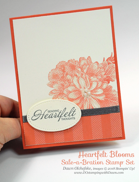 Sale-a-Bration Heartfelt Blooms cards by Dawn Olchefske #dostamping #stampinup #handmade #cardmaking #stamping #diy #rubberstamping #sympathy