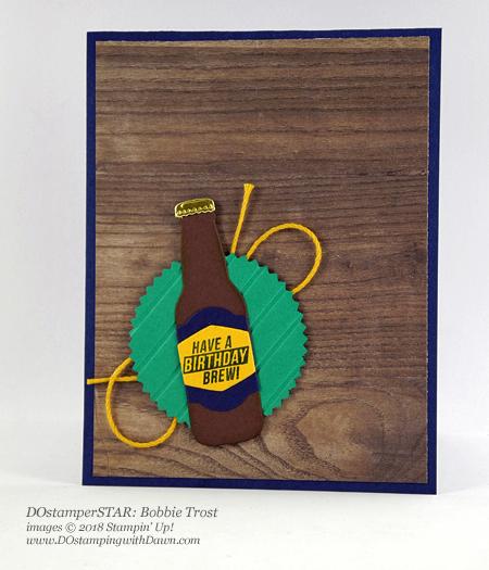 Stampin' Up! Bubble Over Bundle DOstamperSTARS swap shared by Dawn Olchefske #dostamping #stampinup #handmade #cardmaking #stamping #diy #rubberstamping #papercrafting #DOstamperSTARS #2018OccasionsCatalog #birthday (Bobbie Trost)