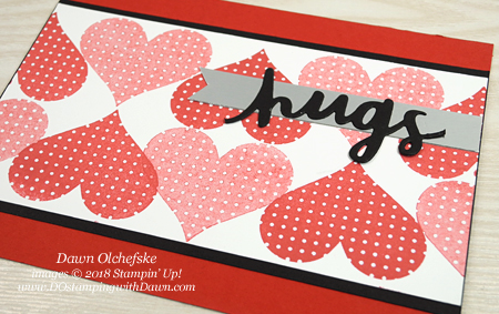 Stampin' Up! Heart Happiness card by Dawn Olchefske for DOstamperSTARS Thursday Challenge #DSC265 #dostamping #stampinup #handmade #cardmaking #stamping #diy #hearthappiness #valentinesdaycards #valentines