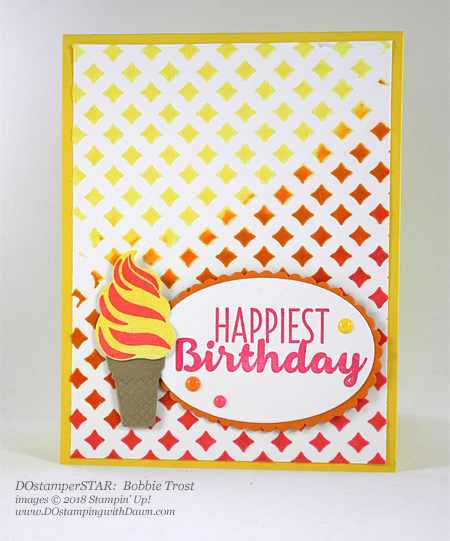 Stampin' Up! Embossing Paste & Cool Treats shared by Dawn Olchefske #dostamping  #stampinup #handmade #cardmaking #stamping #diy #rubberstamping #papercrafting (DOstamperSTAR Bobbie Trost)
