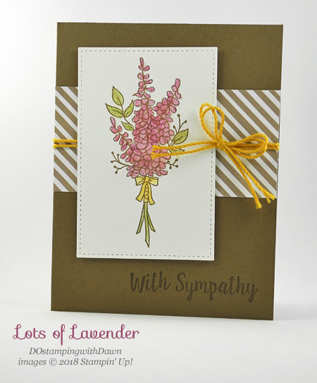 Stampin' Up! Sale-a-Bration Lots of Lavender shared by Dawn Olchefske #dostamping #stampinup #handmade #cardmaking #stamping #diy #rubberstamping #papercrafting #sympathy