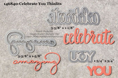 Stampin' Up! Celebrate You Thinlits #dostamping #stampinup #CelebrateYou #bigshot #diy #handmade #cardmaking