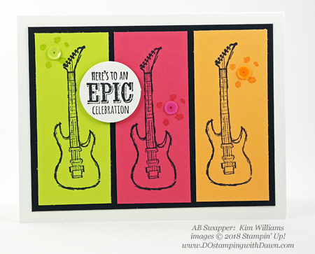 Stampin' Up! Sale-a-Bration Epic Celebrations  swaps shared by Dawn Olchefske #dostamping  #stampinup #handmade #cardmaking #stamping #diy #rubberstamping #papercrafting #saleabration #birthdaycards #epiccelebration (Kim Williams)