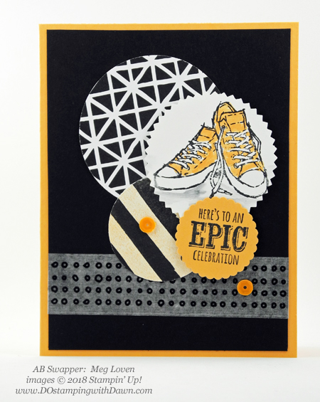 Stampin' Up! Sale-a-Bration Epic Celebrations  swaps shared by Dawn Olchefske #dostamping  #stampinup #handmade #cardmaking #stamping #diy #rubberstamping #papercrafting #saleabration #birthdaycards #epiccelebration (Meg Loven)