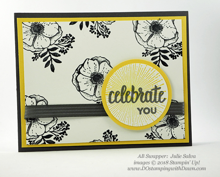 Stampin' Up! Sale-a-Bration Amazing You swaps shared by Dawn Olchefske #dostamping  #stampinup #handmade #cardmaking #stamping #diy #rubberstamping #papercrafting #saleabration #birthdaycards #amazingyou (Julie Salva)