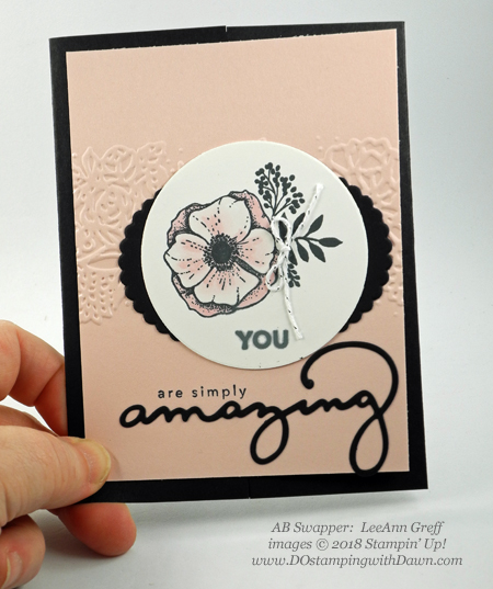 Stampin' Up! Sale-a-Bration Celebrate You Thinlits and Amazing You swaps shared by Dawn Olchefske #dostamping  #stampinup #handmade #cardmaking #stamping #diy #rubberstamping #papercrafting #saleabration #birthdaycards #amazingyou #celebrateyou (LeeAnn Greff)