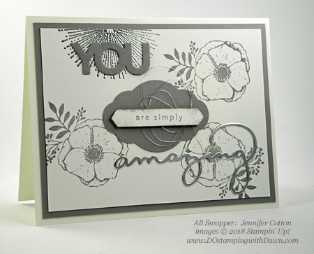 Stampin' Up! Sale-a-Bration Celebrate You Thinlits and Amazing You swaps shared by Dawn Olchefske #dostamping  #stampinup #handmade #cardmaking #stamping #diy #rubberstamping #papercrafting #saleabration #birthdaycards #amazingyou #celebrateyou (Jennifer Cotten)