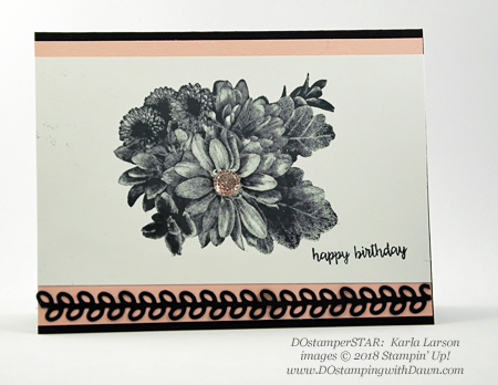 Stampin' Up! Heartfelt Blooms shared by Dawn Olchefske #dostamping  #stampinup #handmade #cardmaking #stamping #diy #rubberstamping #papercrafting #birthdaycard #heartfeltblooms (Karla Larson)