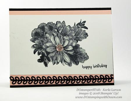 Stampin' Up! Heartfelt Blooms shared by Dawn Olchefske #dostamping #stampinup #handmade #cardmaking #stamping #diy #rubberstamping #papercrafting #birthdaycard #heartfeltblooms (Karla Larson)