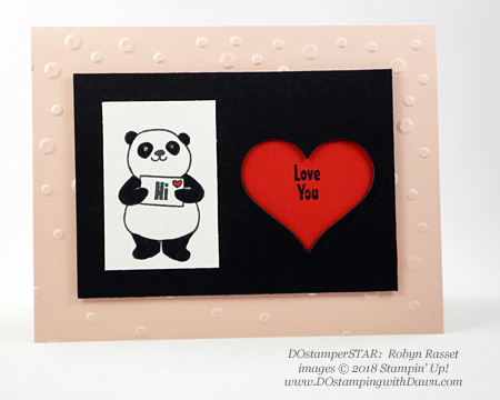 Stampin' Up! Sale-a-Bration Party Pandas swaps shared by Dawn Olchefske #dostamping  #stampinup #handmade #cardmaking #stamping #diy #rubberstamping #papercrafting #partypandas #dostamperstars (Robyn Rasset