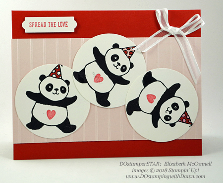 Stampin' Up! Sale-a-Bration Party Pandas swaps shared by Dawn Olchefske #dostamping #stampinup #handmade #cardmaking #stamping #diy #rubberstamping #papercrafting #partypandas #dostamperstars (Elizabeth McConnell)
