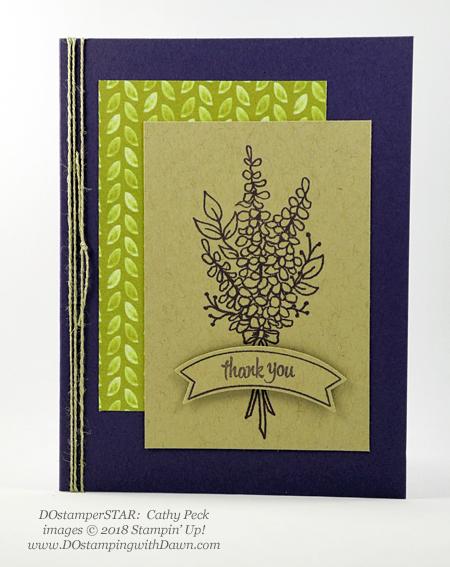 Stampin' Up! Sale-a-Bration Lots of Lavender swaps shared by Dawn Olchefske #dostamping #stampinup #handmade #cardmaking #stamping #diy #rubberstamping #papercrafting #lotsoflavender #dostamperstars (Cathy Peck)
