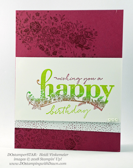 Stampin' Up! Sale-a-Bration Happy Wishes swaps shared by Dawn Olchefske #dostamping  #stampinup #handmade #cardmaking #stamping #diy #rubberstamping #papercrafting #happywishes #dostamperstars (Heidi Vinkemeier)