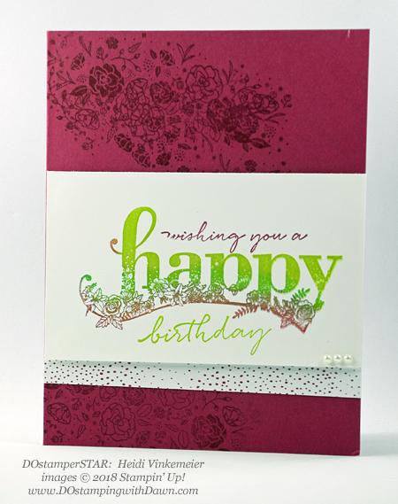 Stampin' Up! Sale-a-Bration Happy Wishes swaps shared by Dawn Olchefske #dostamping #stampinup #handmade #cardmaking #stamping #diy #rubberstamping #papercrafting #happywishes #dostamperstars (Heidi Vinkemeier)