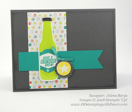 Stampin' Up! Sale-a-Bration Bubble Over Bundle with Bubble & Fizz DSP swaps shared by Dawn Olchefske #dostamping  #stampinup #handmade #cardmaking #stamping #diy #rubberstamping #papercrafting #Bubbleoverbundle #bubbleandfizzdsp #birthdaycards #dostamperstars (Jolene Bergs)
