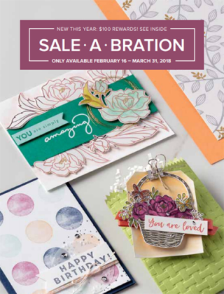 Stampin' Up! 2018 Sale-a-Bration Brochure, Shop with Dawn Olchefske (dostamping.stampinup.net) #dostamping  #stampinup #handmade #cardmaking #stamping #diy #rubberstamping #papercrafting #blossomingbasketbundle