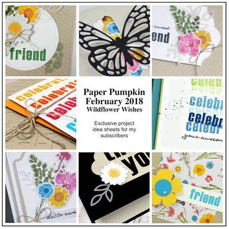 Paper Pumpkin Bonus from DOstamping, join at https://mypaperpumpkin.com?demoid=61500 #paperpumpkin #stampinup #cardkits #dostamping #wildflowerwishes