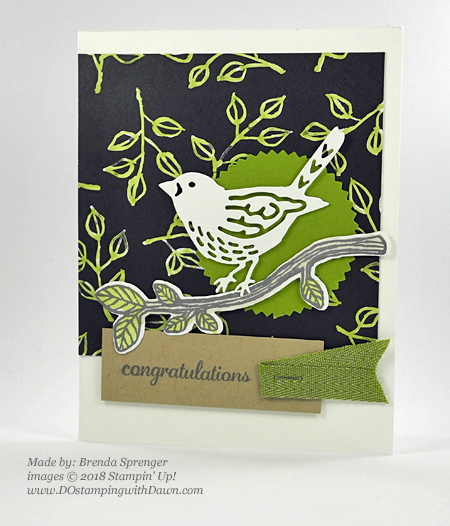 Stampin' Up! Best Birds Stamp Set and coordinating Birds & Blooms Thinlits Dies shared by Dawn Olchefske #dostamping  #stampinup #handmade #cardmaking #stamping #diy #rubberstamping #papercrafting (Brenda Sprenger)