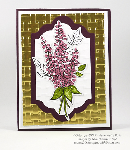 Stampin' Up! Lots of Happy Card Kit, Basket Weave Dynamic Textured Impressions Embossing Folder and Lots of Labels Framelits Dies shared by Dawn Olchefske #dostamping #stampinup #handmade #cardmaking #stamping #diy #rubberstamping #papercrafting (Bernadette Baio)