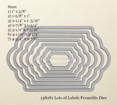 Lots of Labels Framelit sizes shared by Dawn Olchefske #dostamping #stampinup