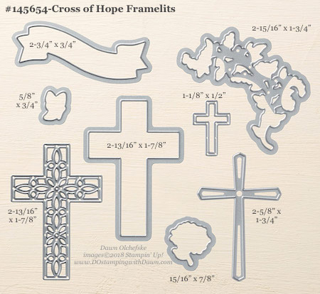 Stampin' Up! Cross of Hope Framelit #dostamping #stampinup #CrossofHope #bigshot #diy #handmade #cardmaking