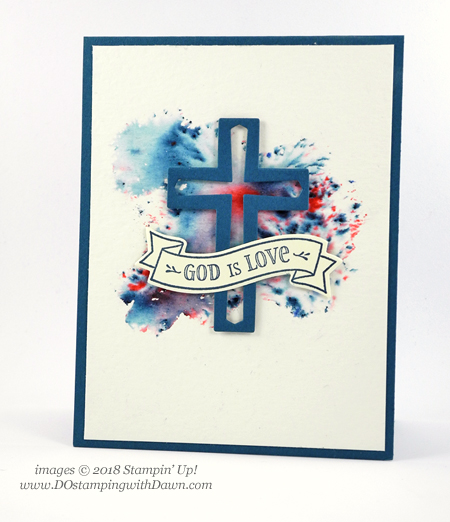 Watch video using Stampin' Up! Brusho Crystal Colour & Hold on to Hope Bundle by Dawn Olchefske #dostamping  #stampinup #handmade #cardmaking #stamping #diy #rubberstamping #papercrafting  #holdontohopebundle #crossesofhopeframelits #eastercard #eastercard #encouragementcards #brushocrystalcolour #howdshedothat