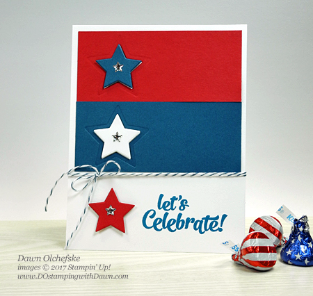 Stampin' Up! Confetti Celebration 4th of July card created by Dawn Olchefske #dostamping #cardmaking #stampinup #4thofjuly