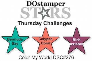 DOstamperSTARS Thursday Challenge #276 - Color My World #dostamping #stampinup