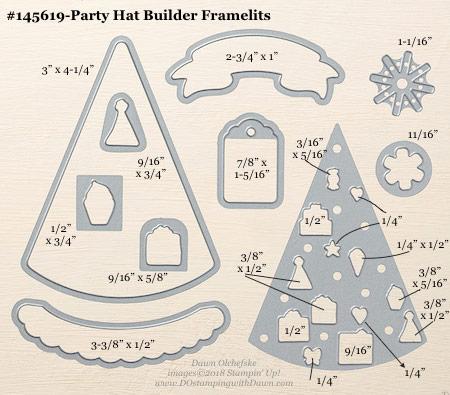 Stampin' Up! Party Hat Builder Framelit #dostamping #stampinup #PartyHatBuilder #bigshot #diy #handmade #cardmaking