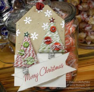 #cardmaking #dawnolchefske #diy #dostamping #papercrafting #stampinup #founderscircle #2014holidaycatalog #holidaytags #treepunch