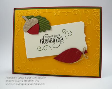 #cardmaking #dawnolchefske #diy #dostamping #papercrafting #stampinup #2014holidaycatalog #gratitudefordays