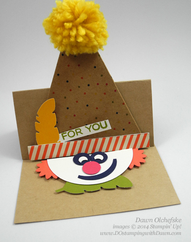 Clown Punch Art Easel card shared by Dawn Olchefske, dostamping  #paperpumpkin #sweetaspie #stampinup