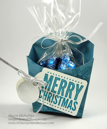 Holiday Treat Fry Box with Merry Everything Bundle create by Dawn Olchefske, dostamping  #christmashome #holidaypackaging  #stampinup
