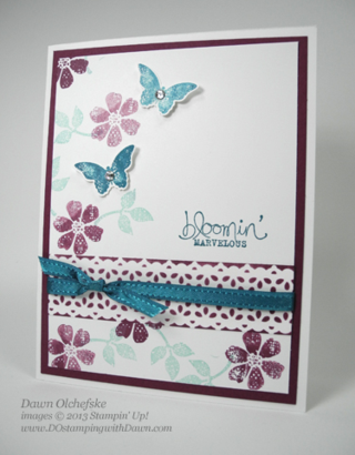 Stampin' Up, Delicate Details Lace Tape, Dawn Olchefske, #DOstamping, Handmade Cards