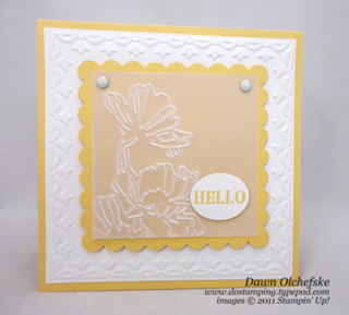 Stampin' Up, Framed Tulip Textured Embossing Folder, Dawn Olchefske, #DOstamping, Handmade Cards