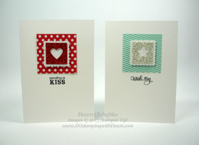 Stampin' Up, Merry Minis Punch Pack, Dawn Olchefske, #DOstamping, Note Cards
