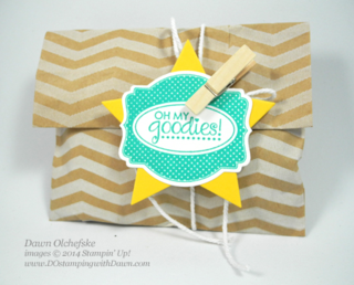 Oh My Goodies Treat Bag created by Dawn Olchefske, #dostamping, #stampinup