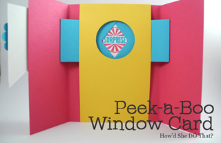 Peek-a-Boo Window Card video using Amazing Birthday stamp set Dawn Olchefske #dostamping #stampinup #funfold