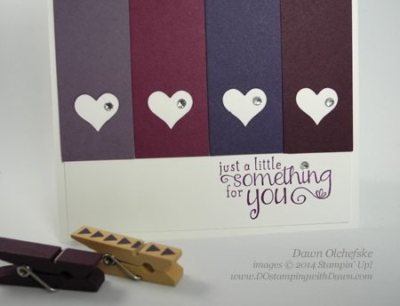 In Color Card designed by Dawn Olchefske #dostamping #stampinup